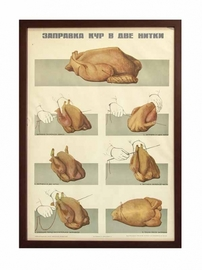 Плакат «Заправка кур в две нитки»